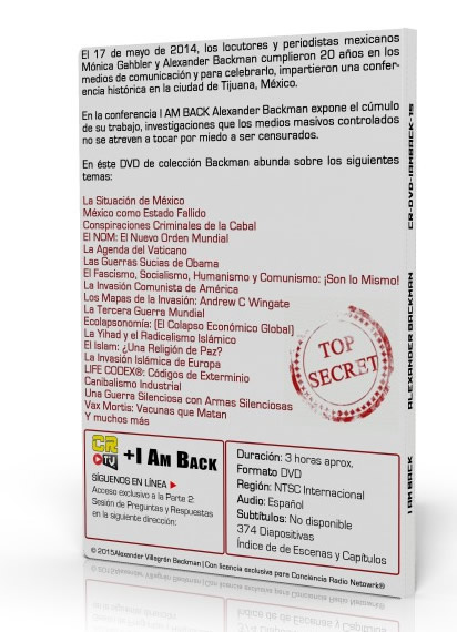 DVD I AM BACK BACK ALEXANDER BACKMAN