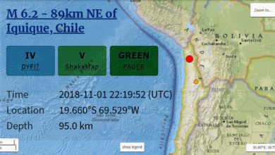 Photo of Terremoto M6.2 remece el norte de Chile, en región anunciada por Alex Backman 48 horas antes