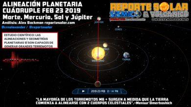 Photo of CUÁDRUPLE ALINEACIÓN PODRÍA TRAER GRANDES TERREMOTOS EN FEBRERO 20-25 2019