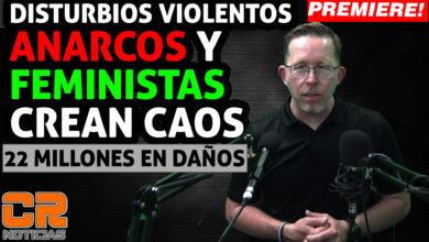 Photo of Anarquistas y feministas destruyen y crean caos en Mexico,  AMLO, Scheinbaum y MORENA los respalda